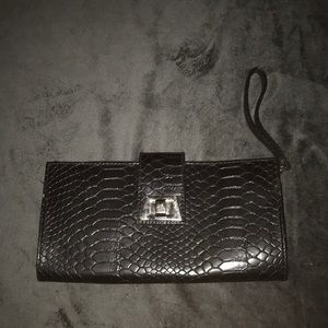 Woman's Black Clutch Handbag